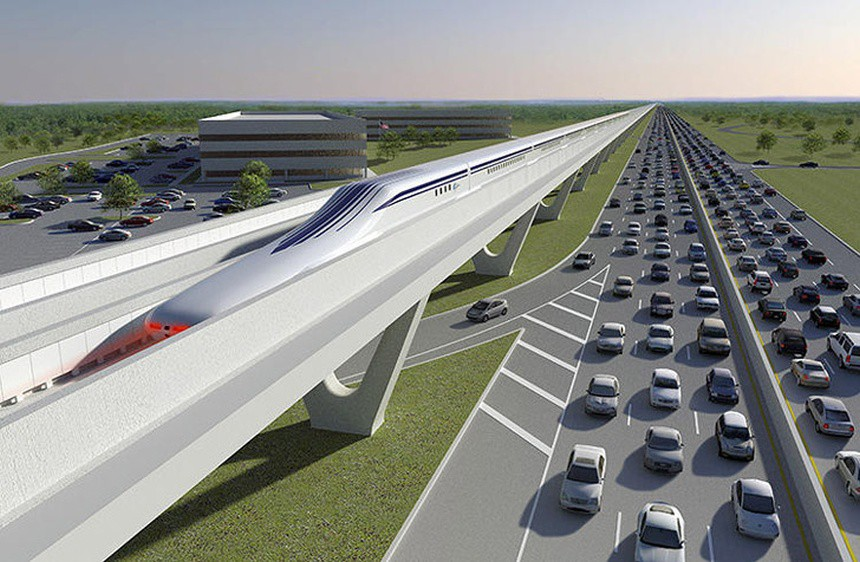 New Jersey maglev rendering