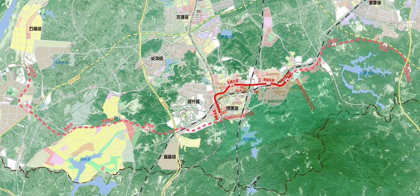 Qingyuan Maglev Tourism Dedicated Line Map