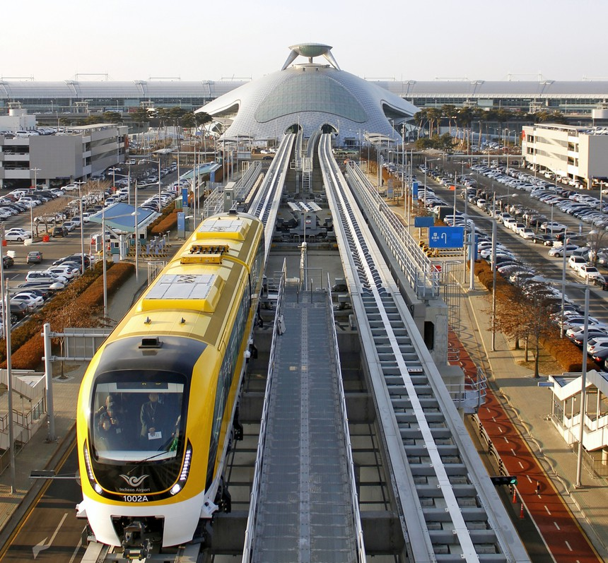 Incheon Airport Yellow Maglev Train