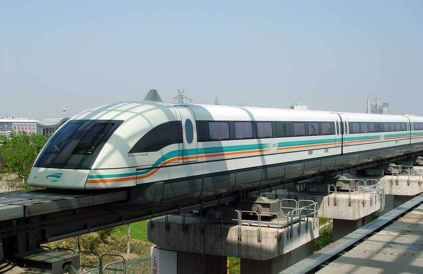Shanghai Maglev at the Pugong International Airport