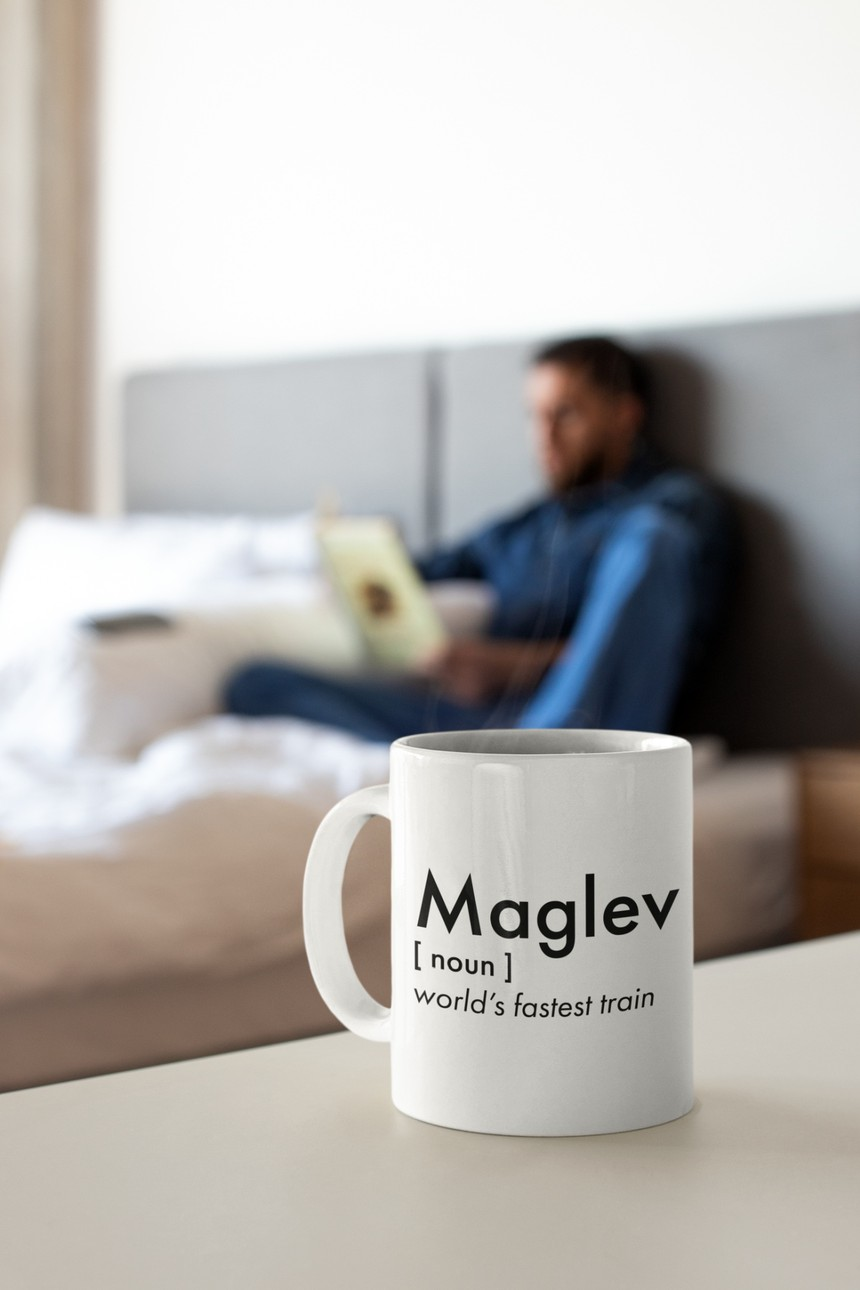 The World's Fastest Train Maglev Mug
