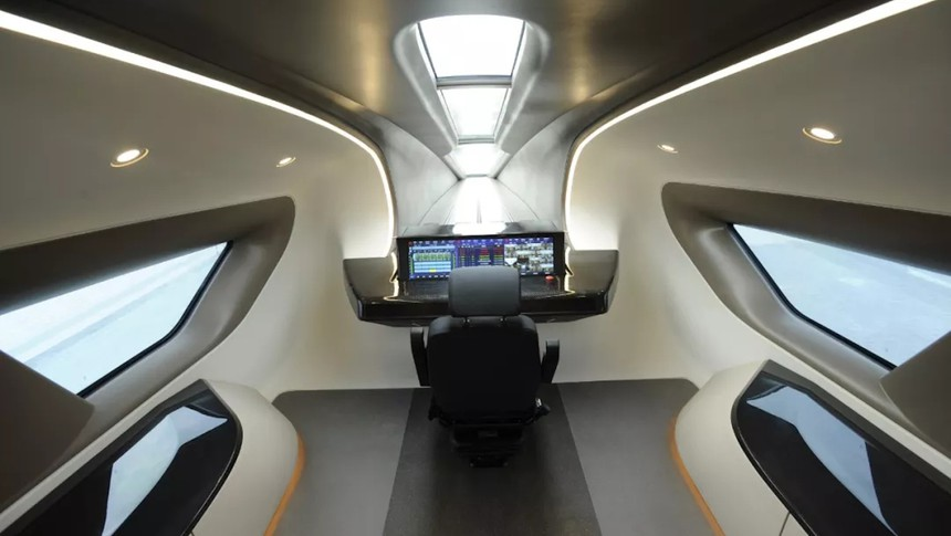 China High Speed Maglev Cockpit