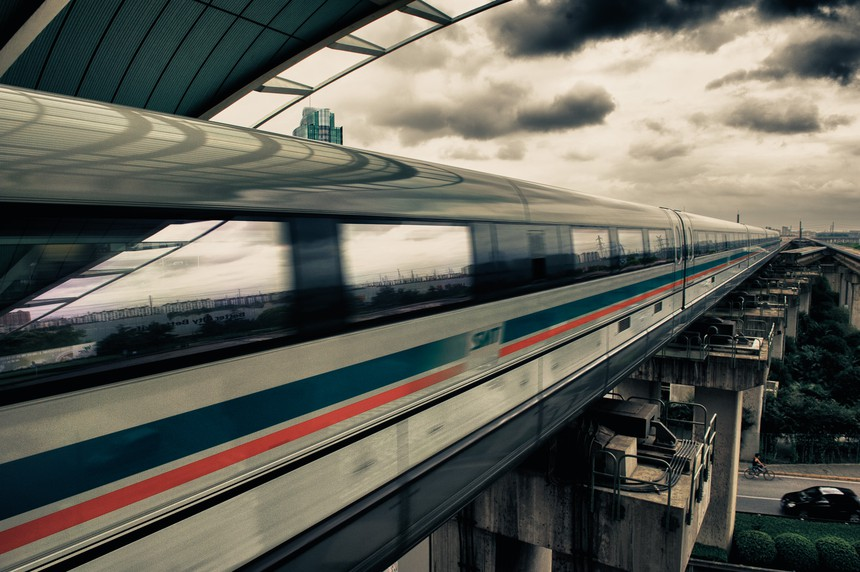 Artistic maglev photo