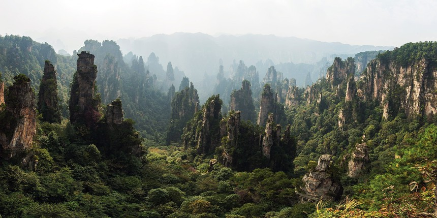 Avatar Hallelujah Mountain in the Zhangjiajie National Forest Park