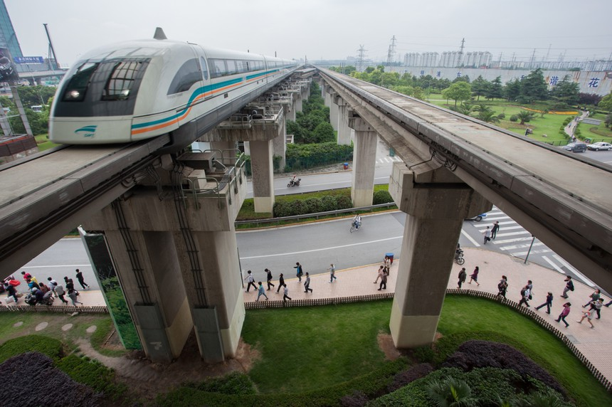 The Shanghai Transrapid maglev train