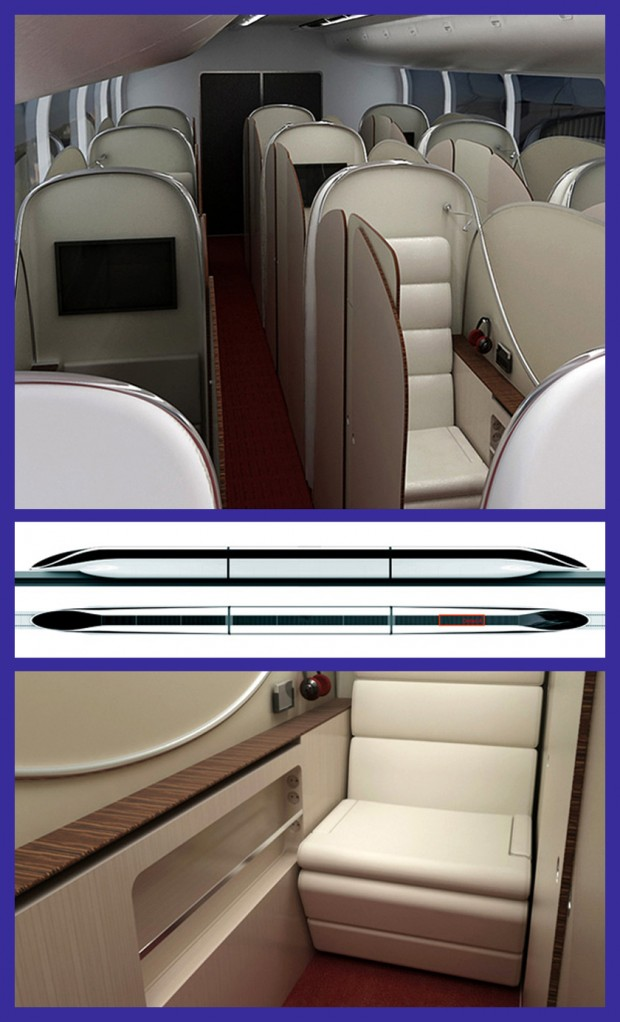 Maglev luxury interior